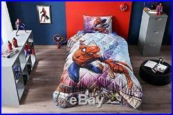 100%Cotton Boys Bedding Set Spiderman Comforter Set Twin XL/Twin Size 3 Pieces