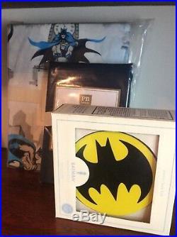 $149 Pottery barn Batman TWIN DUVET Cover + organic PILLOWCASE + NIGHT LIGHT NEW