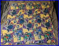 1996 7 Piece DC Comics Batman Bibb Twin Bed Sheet 4 Pillowcases 2 Skirts Vintage