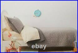 2 pc Pillowfort Twin Grey Triangle Stitch Quilt & Sham Set NIP
