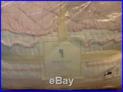 2pc Pottery Barn Kids Brigette Ruffle Twin Quilt Standard Sham Pink $191.50+tax