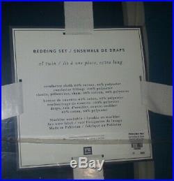 (3) Nwt Pottery Barn Boy/men Block Stripe Twin XL Blue Comforter Set Sheets/sham