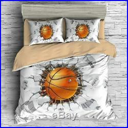 3d Basketball Printing Bedding Set Luxury Sport Cover Set Queen Size Boy Bed Set