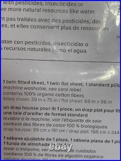 3pc Pottery Barn Kids TWIN Peter Rabbit Beatrix Potter Organic Cotton Sheet Set