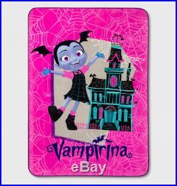 4/ 6 pcs Disney VAMPIRINA Reversible Comforter + Sheets + Blanket + Plush Doll