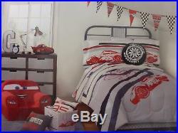 4 Disney Pixar Cars Twin Comforter, Pillowcases, & Deco Pillow Set NIP