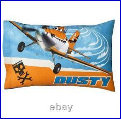 4 Pieces- Disney PLANES Reversible Comforter + Sheet Set -Airplane Dusty NEW