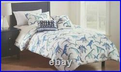 4 pc Max Studio Kids Dinosaurs Roar Twin Comforter, Sham & Deco Pillows Set NIP