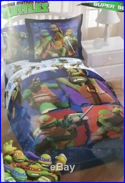 4 pc Nickelodeon Teenage Mutant Ninja Turtles Twin Comforter & Sheet Set NIP