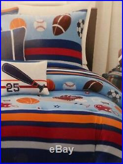 4 pc OYO Sport Game Day Twin Comforter, Sham & Decorative Pillows Set NIP