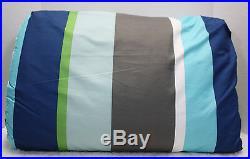 5 / 7 pc Circo Reversible COMFORTER & SHEET Set RUGBY Stripe BLUE Green Gray