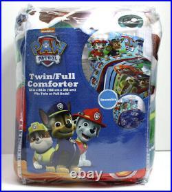 5 Piece- Paw Patrol PUPPY HEROES Comforter + Sheet Set + Plush Marshall Dog TWIN