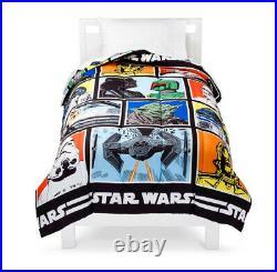 5 Piece STAR WARS Comforter + SHEET Set + Plush Chewbacca Pillow Buddy TWIN