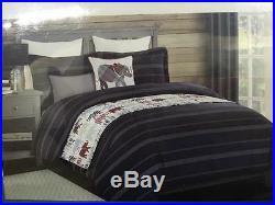 5 pc Boy Zone Elephant Twin Comforter Set Kids + Coverlet Blanket Sham Pillows