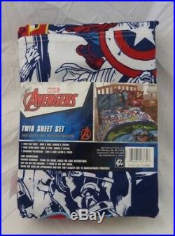 5 pc Marvel Avengers Assemble Twin Comforter, Deco Pillow, and Sheet Set NIP