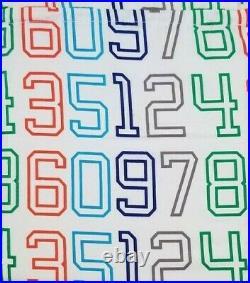 5 pc Pillowfort Twin Green Triangle Stitch Quilt & Sham & Number Sheet Set NIP