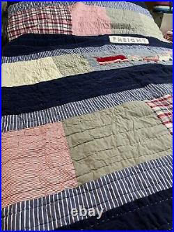 5pc Pottery Barn Kids TRAIN TWIN Quilt + Sham + 3pc SHEET Set Bedroom Bed Thomas