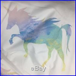 5pc Unicorn Rainbow TWIN Set Comforter Quilt Coverlet Sham Pillow Sequin Envogue