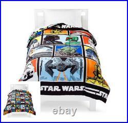 6 Piece- STAR WARS Comforter + SHEET Set + Blanket + Plush Chewbacca Pillow TWIN