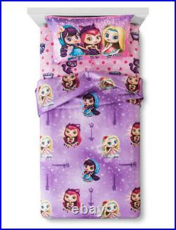 6 Pieces LITTLE CHARMERS Comforter + Sheet Set + Blanket + HAZEL Doll TWIN