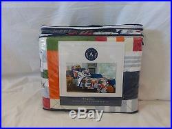 6 pc Authentic Kids Sports Twin Quilt, Sham, Sheet, & Deco Pillow Set NIP
