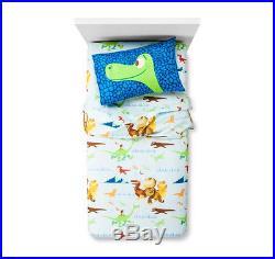 6 pc- Disney The GOOD DINOSAUR Comforter + SHEETS + Pillow Dinosaur + Throw BLUE