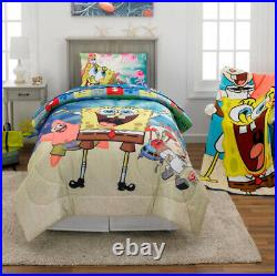 6 pcs SPONGEBOB Reversible Comforter + Sheet Set + Blanket + Pillow Buddy TWIN
