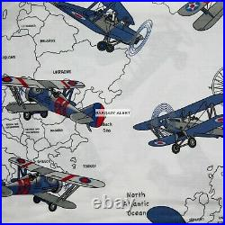 AIRPLANE SKYHAWK 5pc TWIN AIRPLANES QUILT RED BLUE AIRPLANE SHEETS JETS