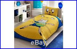 Adventure Time Ranforce %100 Cotton Single Bedding Duvet Quilt set for boys