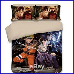 Anime Naruto Bedding set Duvet/Quilt Cover Pillowcase Girl boy Domitory/Bedroom