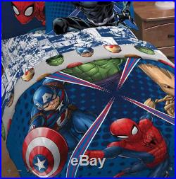 Avengers Marvel Comics Boys Twin Comforter & Sheets 4 Piece Bed In Bag