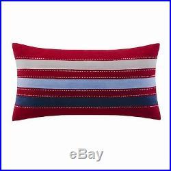 BLUE RED WHITE BLOCKS Twin or Full Queen COVERLET SET VARSITY TEEN BOY BEDDING