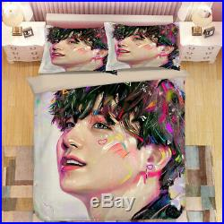 BTS Bangtan Boys Photo Design Duvet Cover Set Bedding Set Twin Full Queen