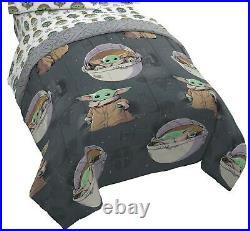 Baby Yoda Comforter and Sheet Set Twin Size Mandalorian Star Wars Blanket Throw