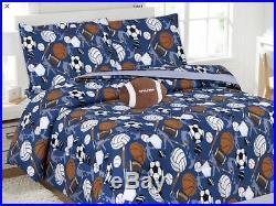 Ball Sports Kids Boys Pretty Collection Comforter Set 6 Pcs Twin Size