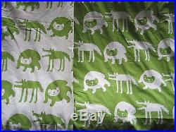 Barnslig Ulven Ikea Duvet Cover Twin Bedspread Wolf Bear Teens Kids Green White