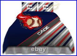 Baseball Comforter Set, Baseball Bedding for Boys, Personalized Player Gift
