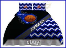 Basketball Comforter Set, Custom Bedset for Teenage Boys, Personalized Bedding