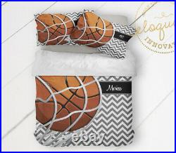 Basketball Comforter Set for Gilrs or Boys Personalized Sports Bedding Bedspread