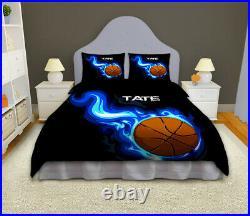Basketball Comforter Set for Girls or Boys, Basketball Bedding Personalized