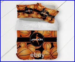 Basketball Comforter for Boys or Girls, Basketball Bedding Room Decor, Gifts