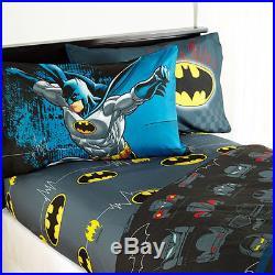 Batman Guardian Boys Twin Single Comforter & Sheets, 4 Piece Bed In A Bag, NEW