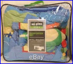 Bedding Mi Zone Kids Totally Transit Kids For Boys Blue Air 3 Pieces Full Queen