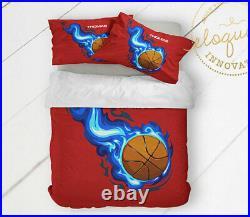 Bedroom Decor for Kids Basketball Theme Boys Basketball Gifts, Comforter Bedding