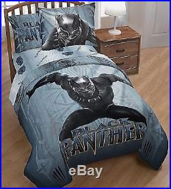 Black Panther Bed Set Twin or Full 5 Piece Comforter Sheets Pillowcase (2DaySH)