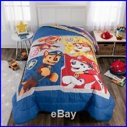Boys Bedding Set Comforter Paw Patrol Puppy Kids Bedroom Sheets Room Decor Twin