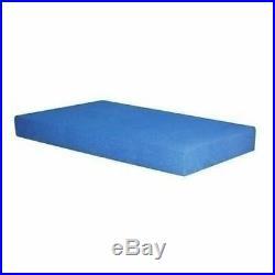 Boys Blue Twin Memory Foam Mattress Bunk Bed Size 5 5 Inch Single Terry Cover
