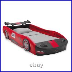 Boys Red Turbo Toddler Race Car Design Twin Bed Kid Child Bedroom