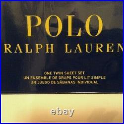 Brand New Polo Ralph Lauren BOY Teddy Bear 3 PC twin Sheet Set white