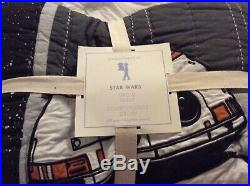 Brand New Pottery Barn Kids Star Wars Droid Quilt F/Q LAST ONE! Hard to find